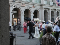 French Quarter wedding procession - Jackson Square (by author)